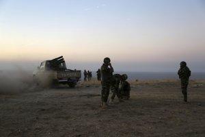 Kurdské bojové jednotky.