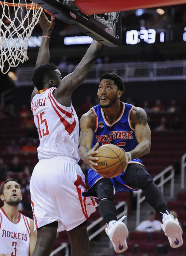 Basketbalista New Yorku Knicks Derrick Rose.