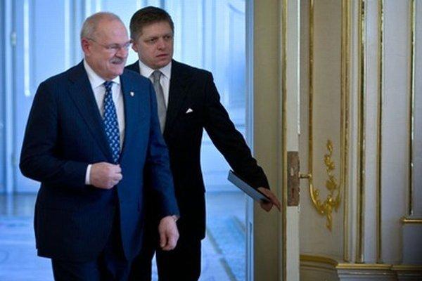 Ivan Gašpaovič a Robert Fico.