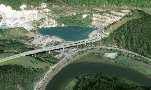 Po zosuve pôdy vkameňolome diaľnicu presunuli zľavej strany jazera na pravú. Je to jedna z možností.