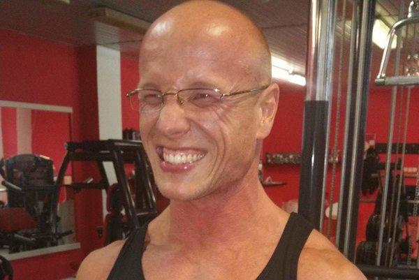 Matej Slivoň počas tvrdého tréningu.