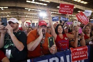 Podporovatelia Donalda Trumpa.