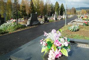 Pomedzi hroby vedú nové asfaltové chodníky.