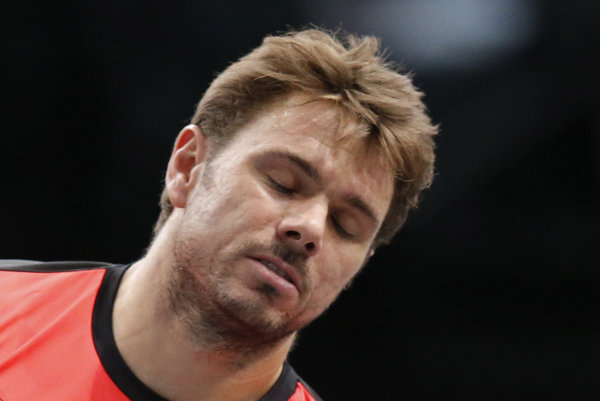 Stan Wawrinka bol počas zápasu frustrovaný.