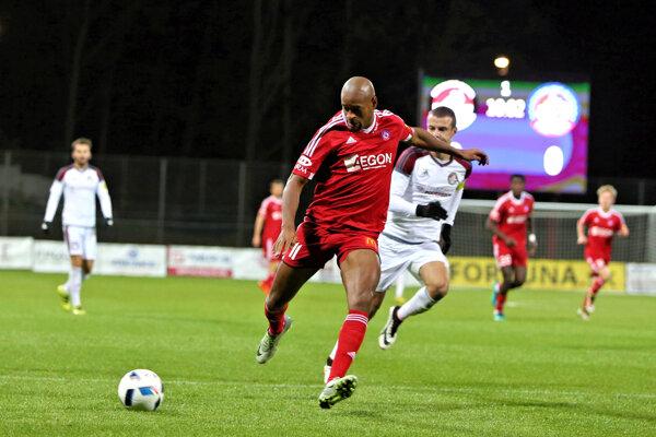 Rangelo Janga strelil jediný gól Trenčína. Na body však nestačil.