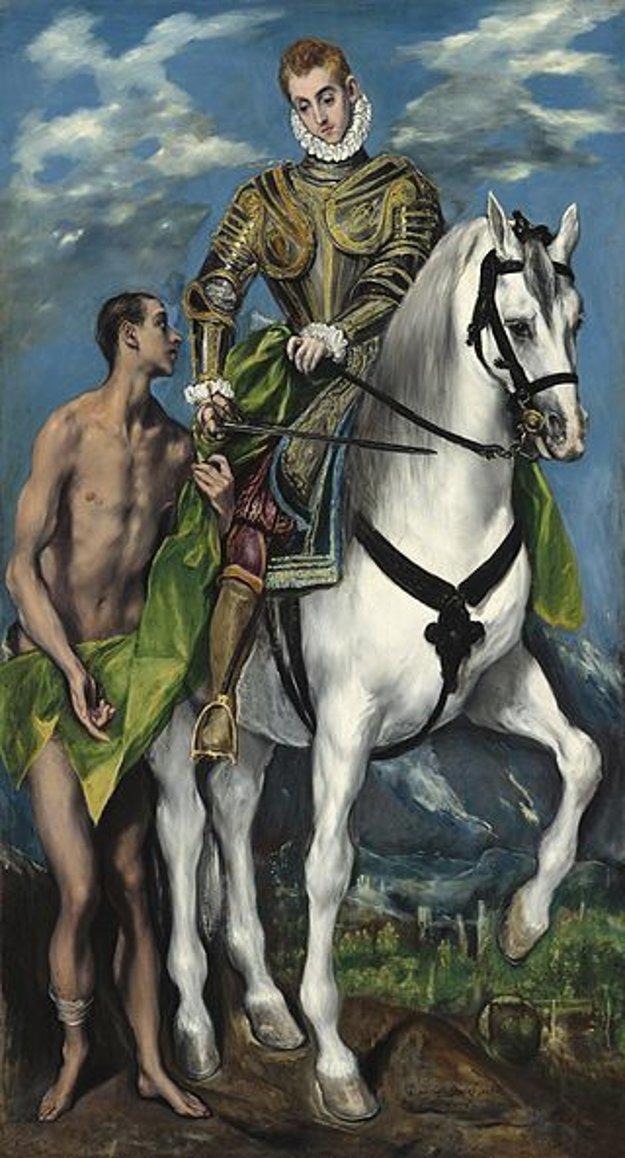 Takto stvárnil sv. Martina El Greco.