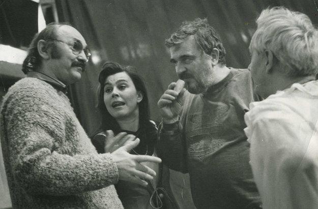 Zľava Eugen Gnoth, Marta Sládečková, Karol Spišák a Ivan Krajíček.