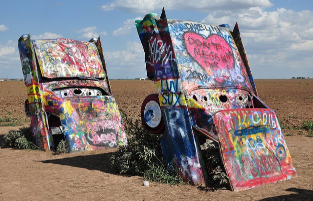 Cadillac ranch.