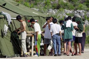 Ilustračná foto z utečeneckého tábora na ostrove Nauru.