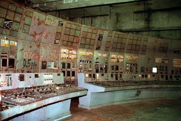 Zničená kontrolná veža štvrtého reaktora.