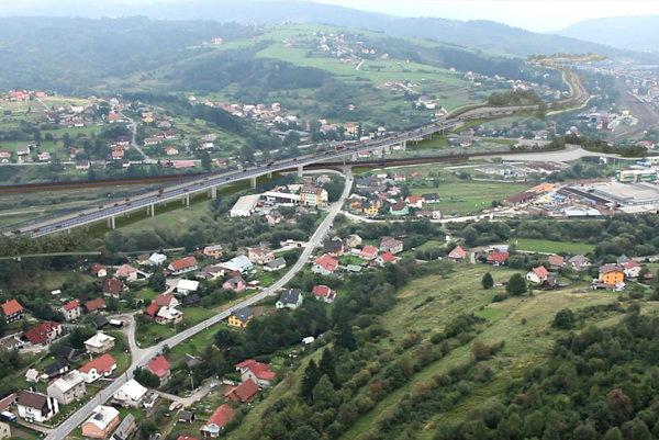 Vizualizácia úseku diaľnice D3 Čadca, Bukov - Svrčinovec.