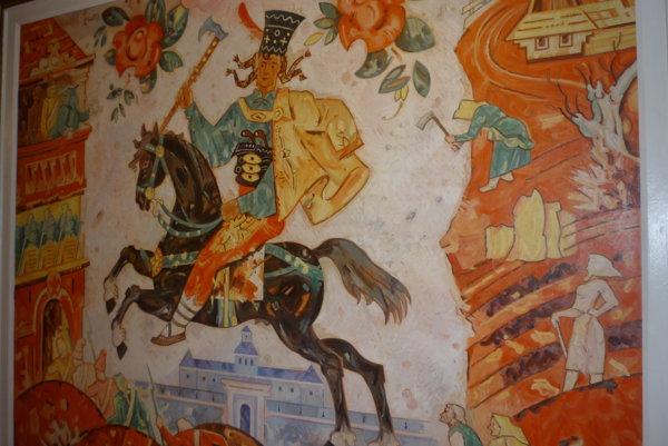 Najvzácnejší exponát múzea, mohutná olejomaľba Ľudovíta Fullu zroku 1955.