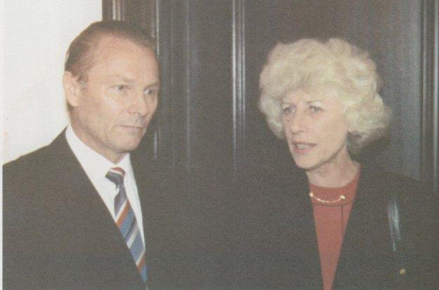 S pani prezidentovou. Prvá manželka prezidenta V. Havla - Olga, ktorá podľahla zákernej chorobe.