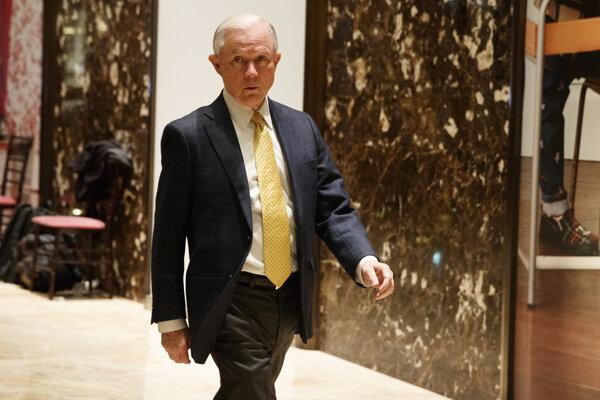 Zvolený americký generálny prokurátor Jeff Sessions.