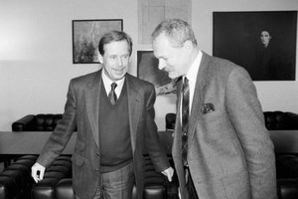 Václav Havel a Ivan Gašparovič v roku 1992.