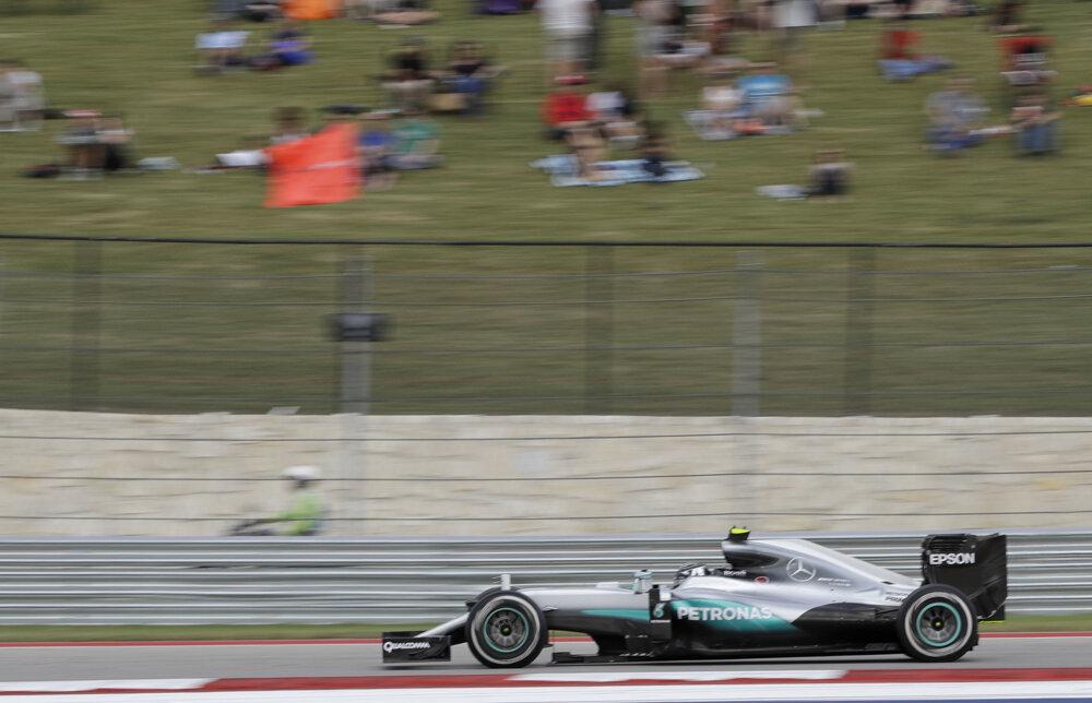 Nico Rosberg počas Veľkej ceny USA.
