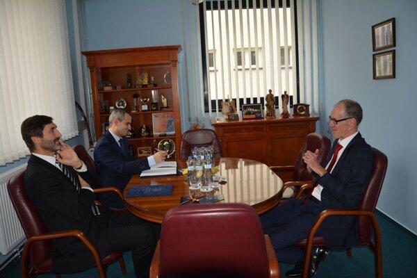 Na prvom spoločnom stretnutí žilinský župan Juraj Blanár a nový veľvyslanec Spolkovej republiky Nemecko na Slovensku Joachim Bleicker.