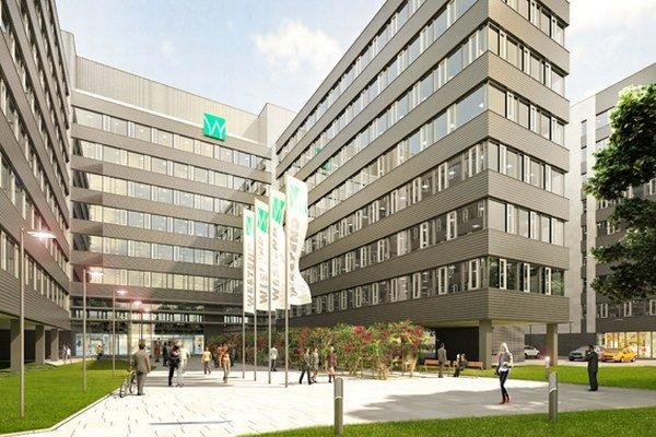 J&T Real Estate začala s výstavbou nového deväťposchodového administratívneho komplexu vlani vo februári.