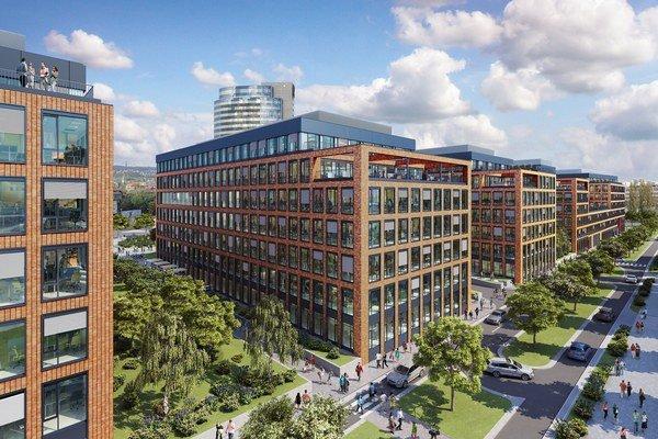 Twin City A je prvou budovou úvodnej fázy projektu Twin City.