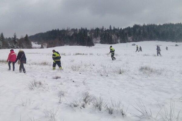 Hľadanie komplikovala čerstvá nádielka snehu.