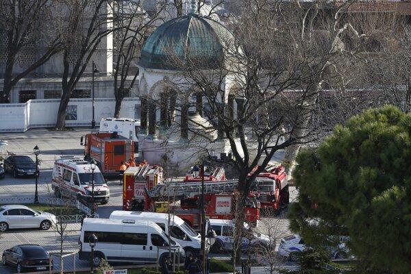 Miesto explózie januárového útoku v Istanbule (archívna foto).