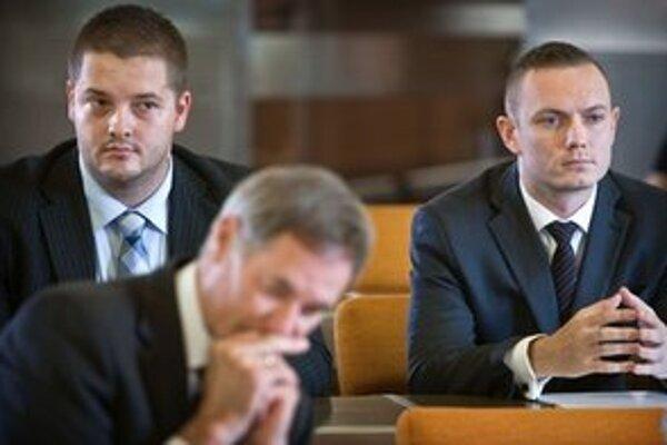 Kandidáti Smeru Ján Hrubý a Roman Lebeda.