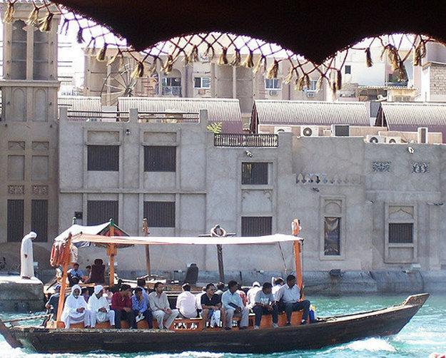Vodné taxi v Dubaji.