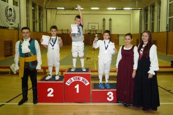 V kategórii mini žiakov skončil prvý Jakub Kazík.