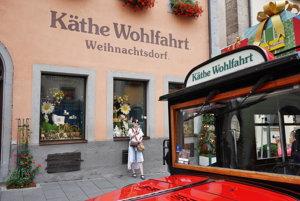 Obchod Käthe Wohlfahrt v nemeckom Rothenburgu ob der Taube