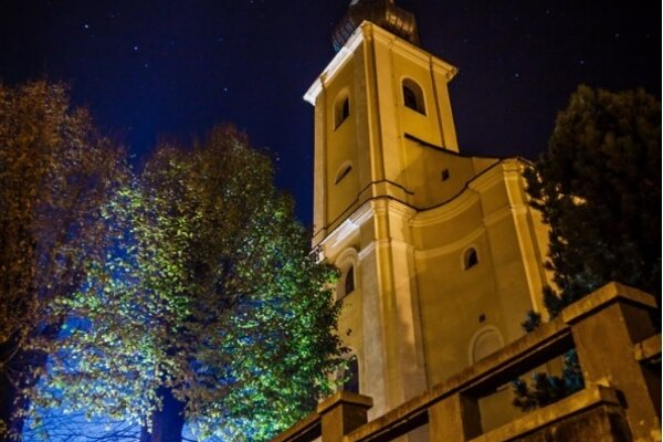 "Snímka s""Kostol sv. Jána Krstiteľa – Skalité"""