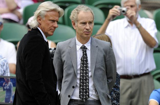 Skutoční Björn Borg a John McEnroe na pravom Wimbledone.