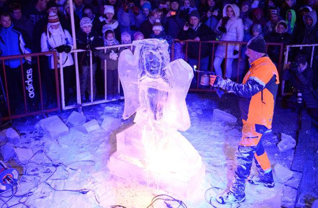 Ľadová exhibícia. Bola vrcholom sobotňajšieho večera.