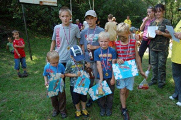 Všetky deti dostali za zvládnutie súťaží odmenu