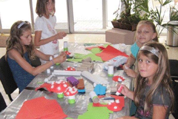 Deti sa na tvorivé dielne, ktoré mali každý pondelok iné zameranie, vždy tešili.