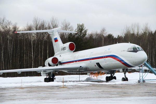 Ruské lietadlo Tu-154.