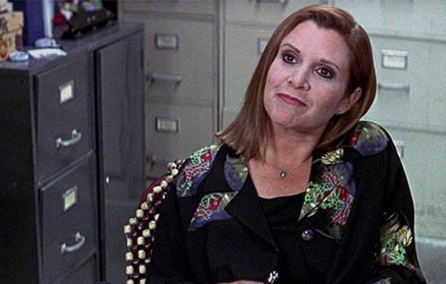 Carrie Fisher v epizódnej roli vo filme Vreskot 3.