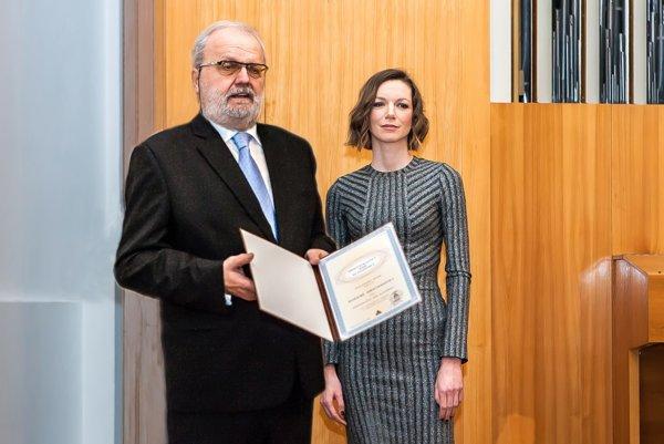 Identifikačný kód Slovenska. Zuzana sa z ocenenia tešila.