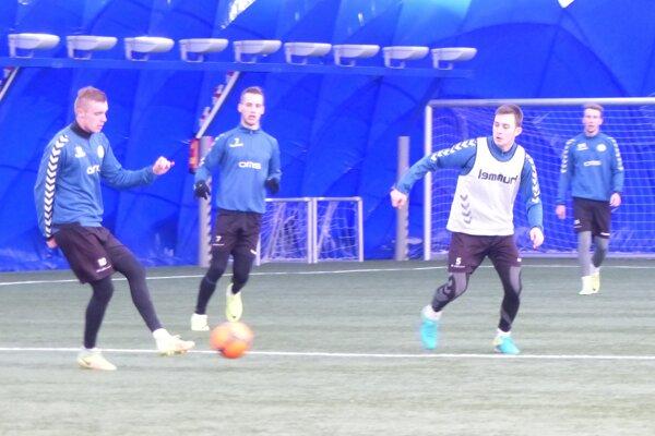 Prvý tréning FK Senica počas zimnej prípravy.