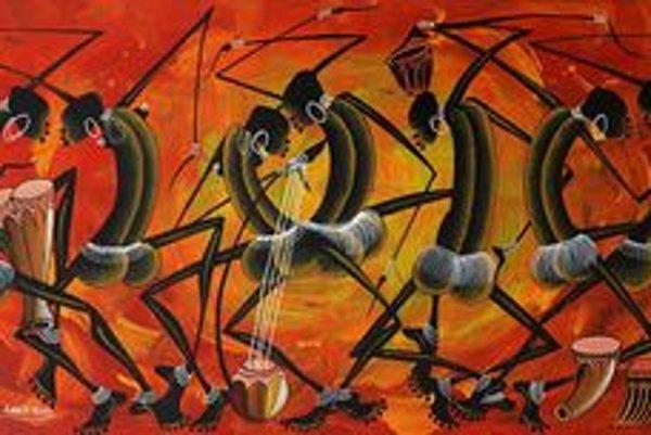 Z obrazov afrických umelcov vyžaruje radosť.