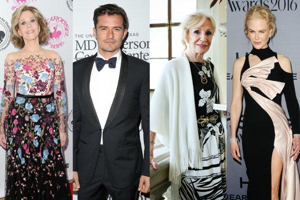 Jane Fonda, Orlando Bloom, Mária Kráľovičová, Nicole Kidman