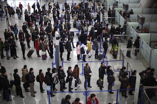 Hala letiska v Šanghaji.
