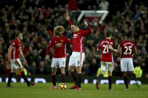 Zlatan burcuje po vyrovnávajúcom góle.