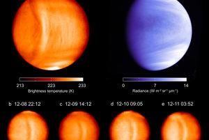 Vlnu v tvare luku pozorovali vedci z JAXA počas štyroch dní. Vzhľadom na povrch planéty sa nehýbala.