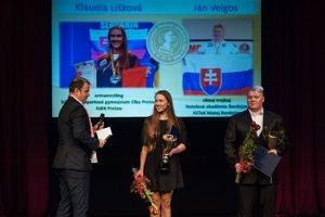 Silový trojbojár a držiteľ viacerých siláckych svetových rekordov Ján Velgos z Bardejova a vicemajsterka sveta v armwrestlingu Klaudia Lišková z Prešova.