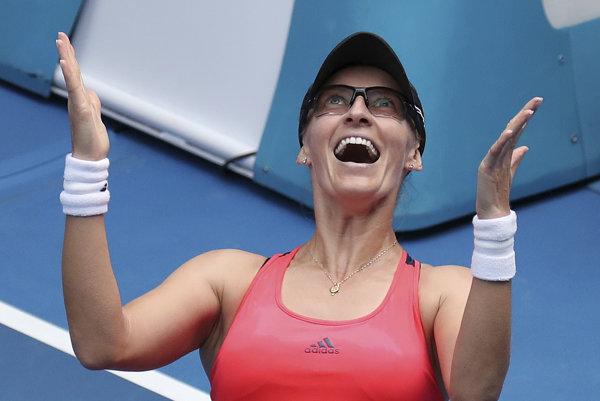 Mirjana Lučičová-Barroniová si po prvý raz zahrá v Melbourne v singlovom štvrťfinále