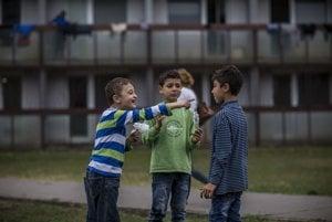 Utečenci v Gabčíkove.