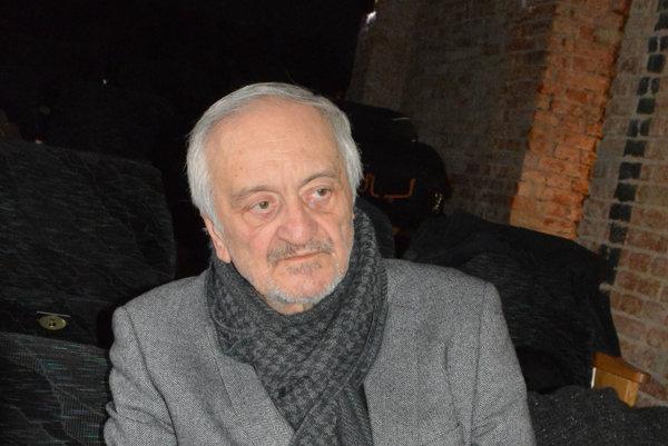 Prezident Milan Lasica. Pozýva ľudí, aby vpolovici júna prišli na Art Film Fest.