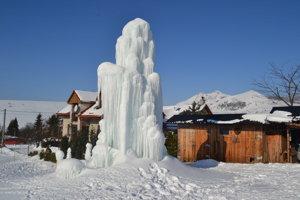 Zamrznutá fontána v Lúčke.