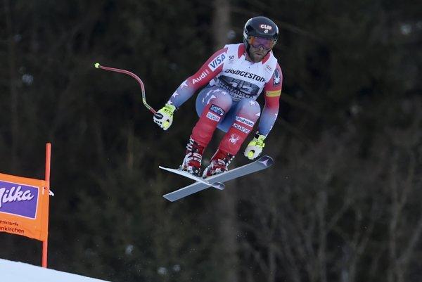 Travis Ganong ovládol zjazd v Garmisch-Partenkirchene.