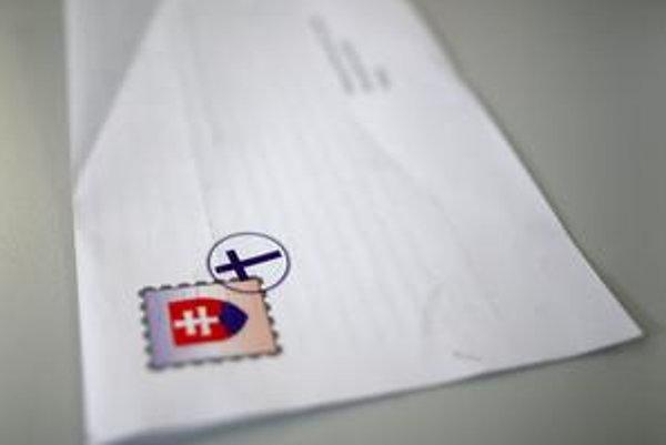 List s krížom namiesto pečiatky.